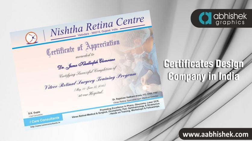 Certificates Design Company, Certificates Design Company in India, certificate design