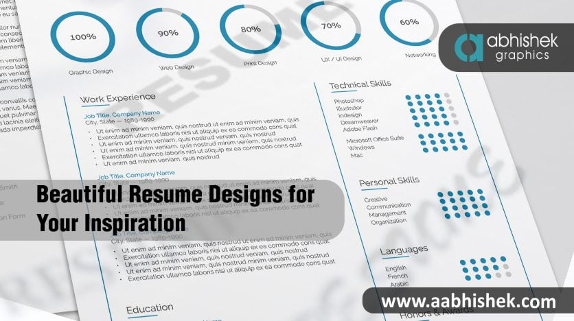 Beautiful Resume Designs For Your Inspiration