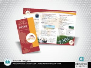 Brochure Design for Visa Consultant at Canada & USA