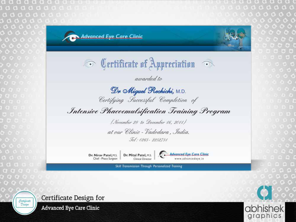 Certificate Design for Hospitals