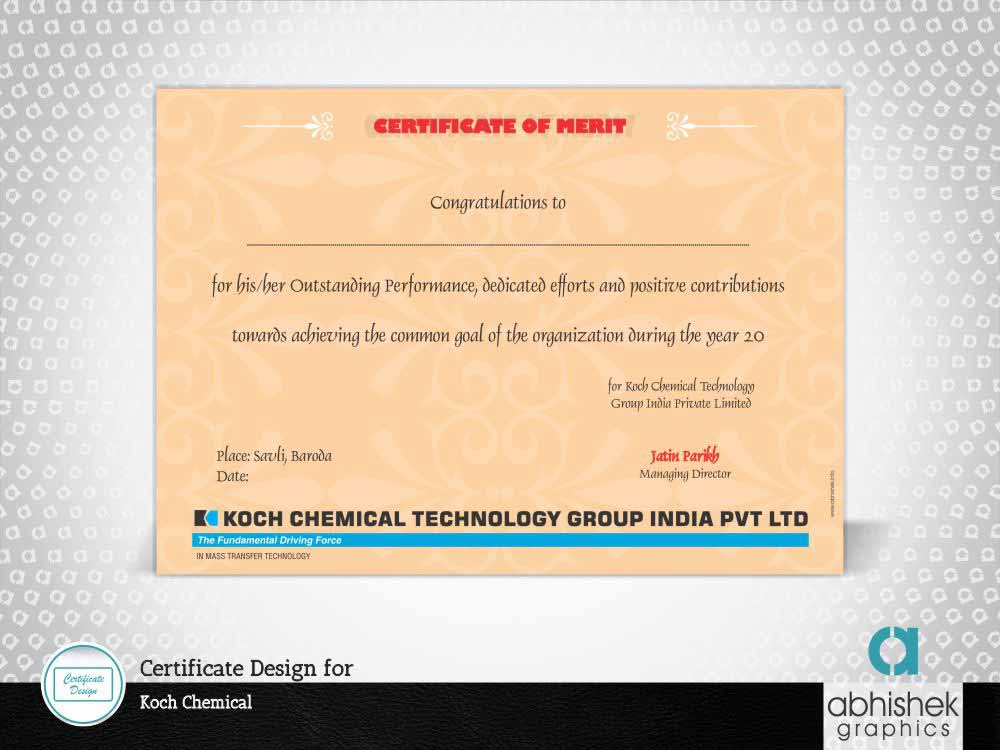 Certificate Design Chemical