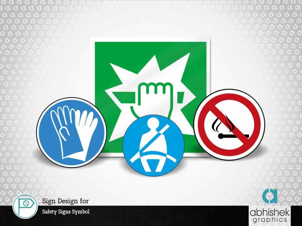 Sign Design for Safety Signs Symbol