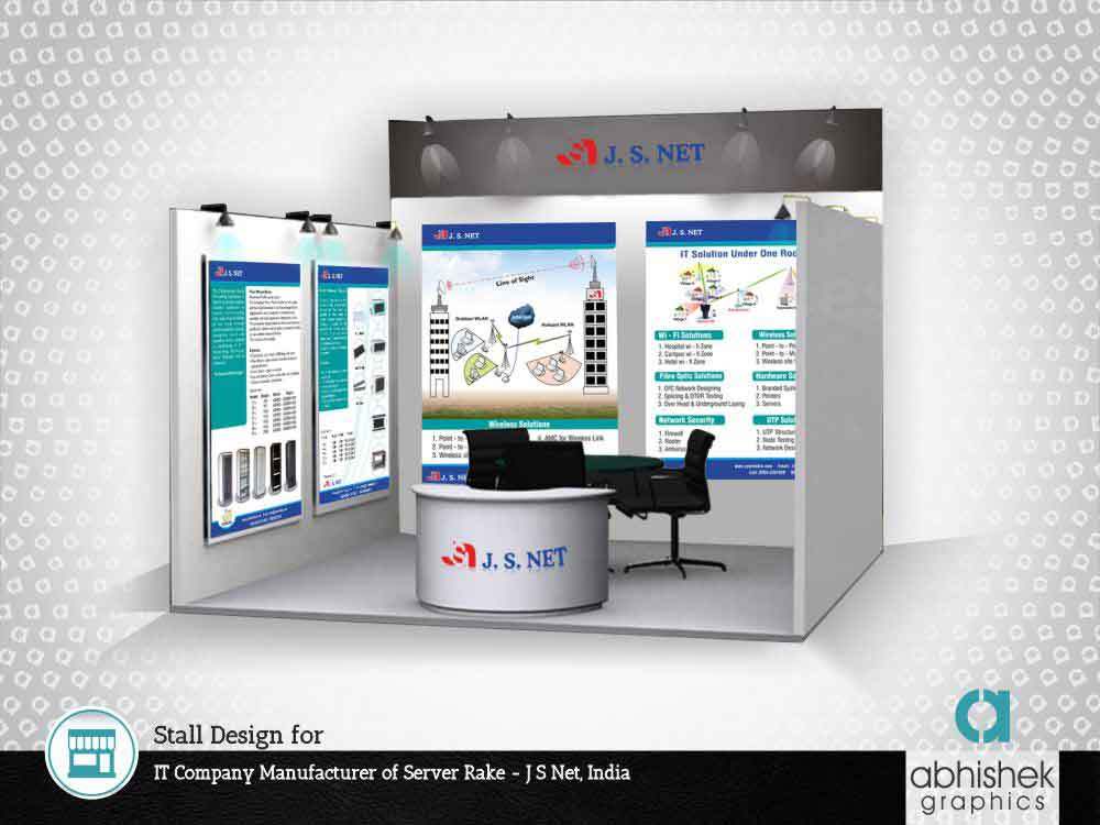 exhibition stall design, stall design for it company manufacturer of server rake