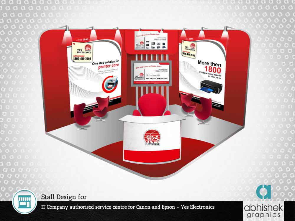 exhibition stall design company, stall design for it company, exhibition designs