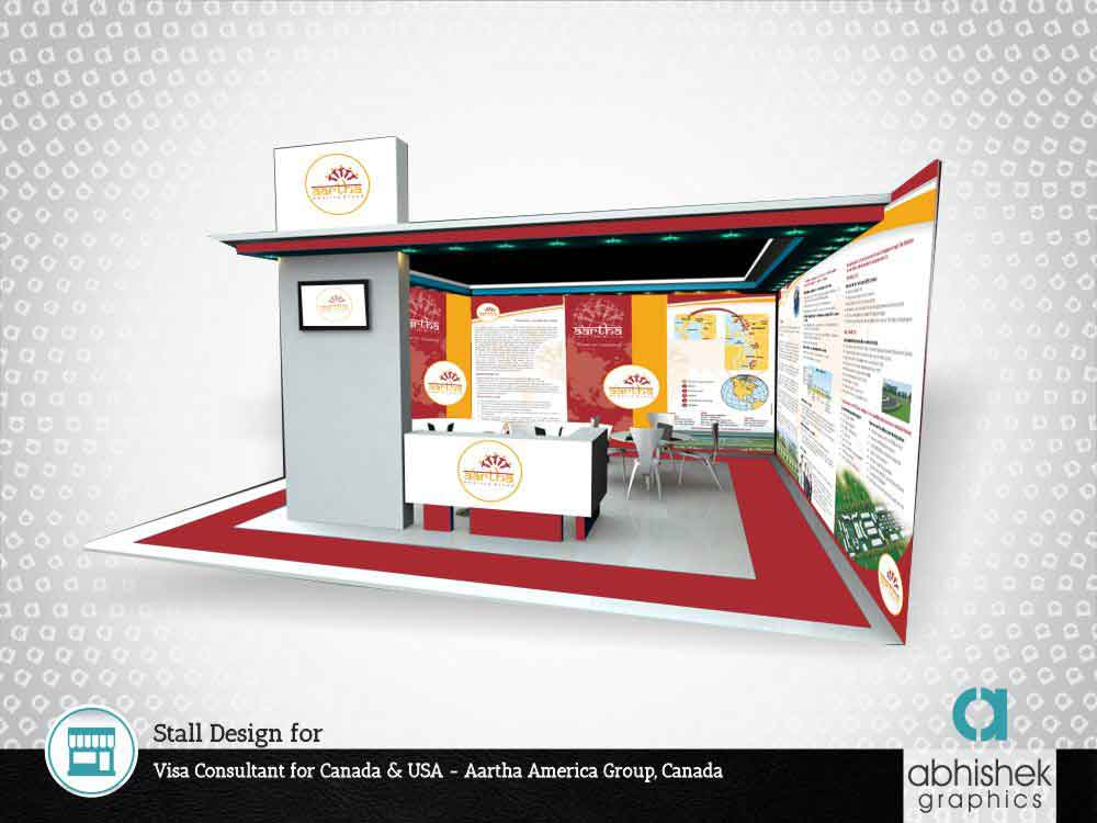 Stall Design for Visa Consultant for Canada & USA