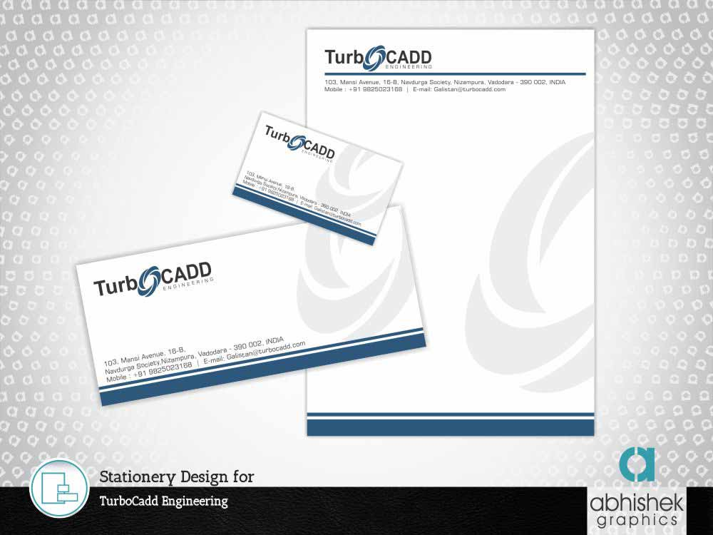 Stationery Design, Stationery Design for Engineering Company, Engineering stationery design
