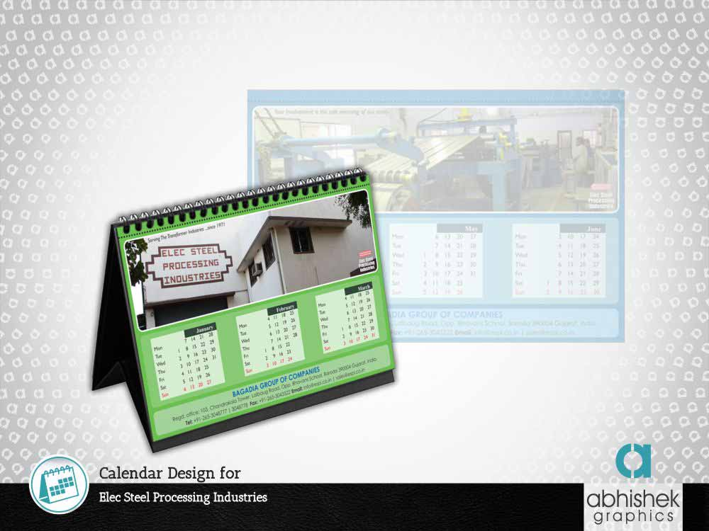 Table Calendar for Elec Steel Processing Industries