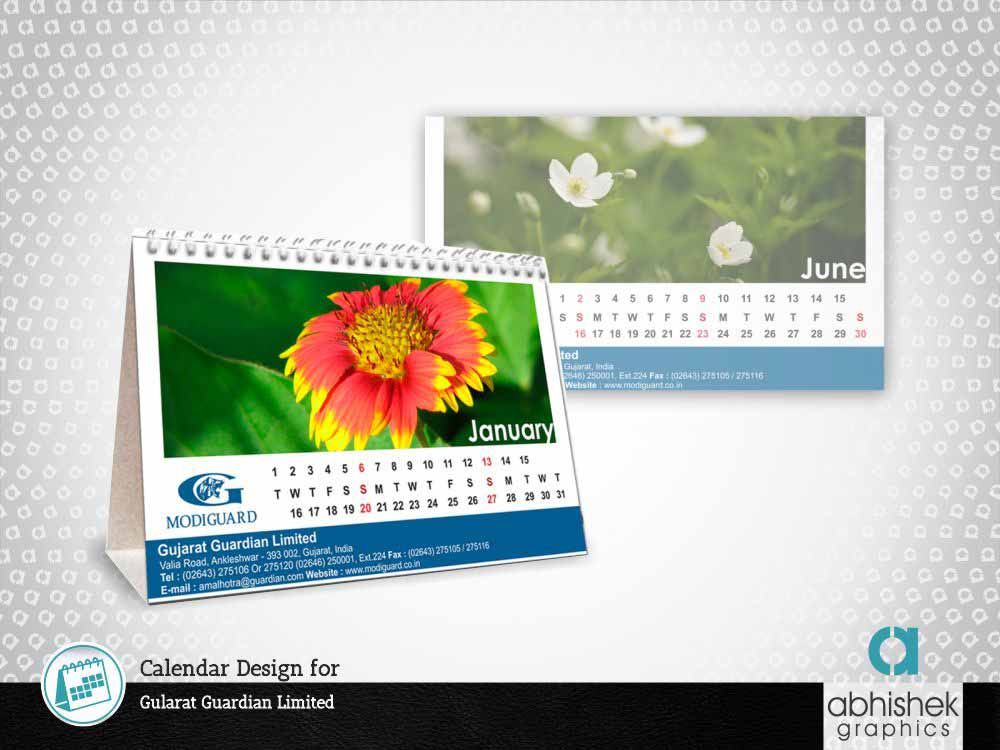 Table Calendar for Gularat Guardian Limited