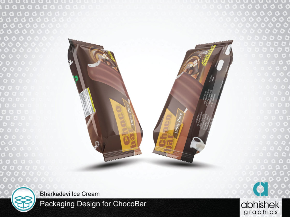 choco bar packaging design, packaging design ice cream packaging design