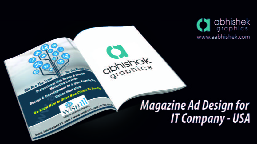 Magazine advertisement design service for it company usa for Design company usa