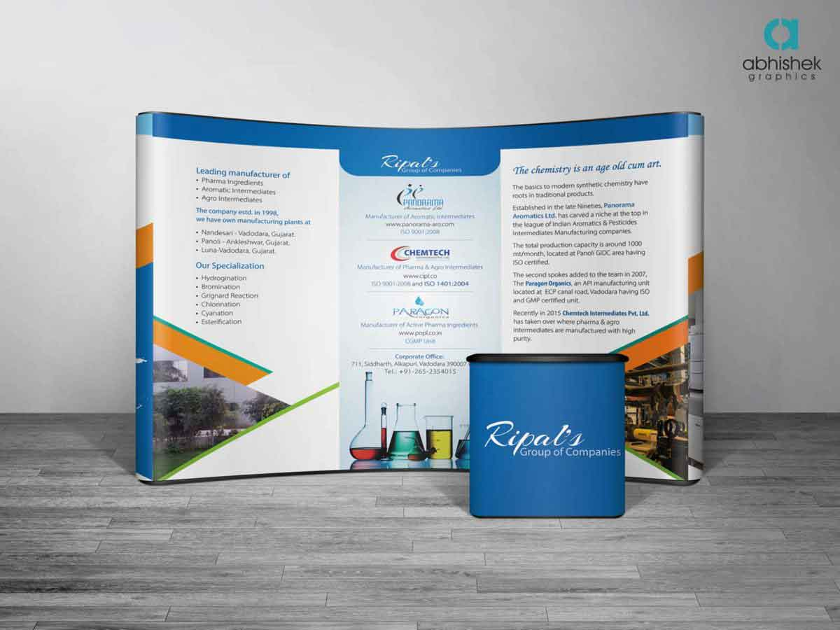 Exhibition Stall Design Agency In Vadodara : Exhibition stall design for pharma company creative